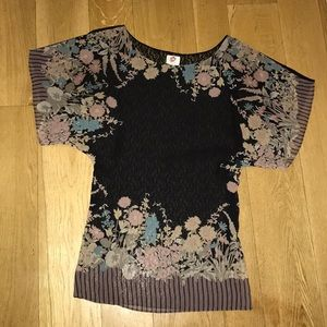 Free People see through tunic size S/P